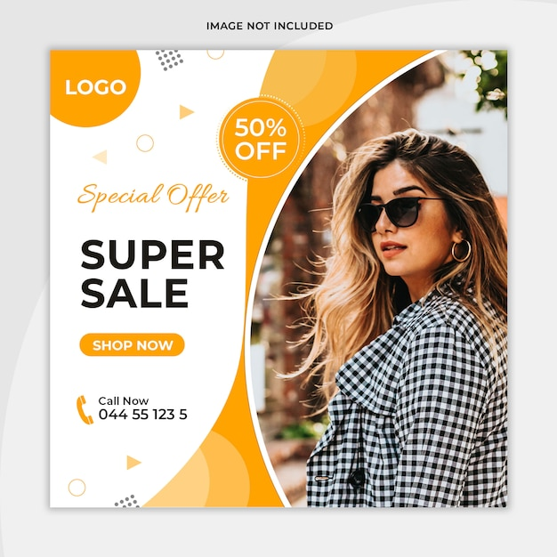 Fashion sales social media banner sammlung Premium PSD