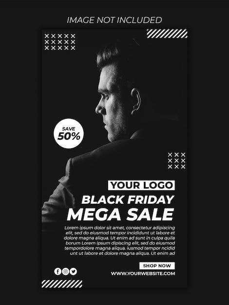 Fashion shop black friday jetzt banner vorlage premium psd Premium PSD