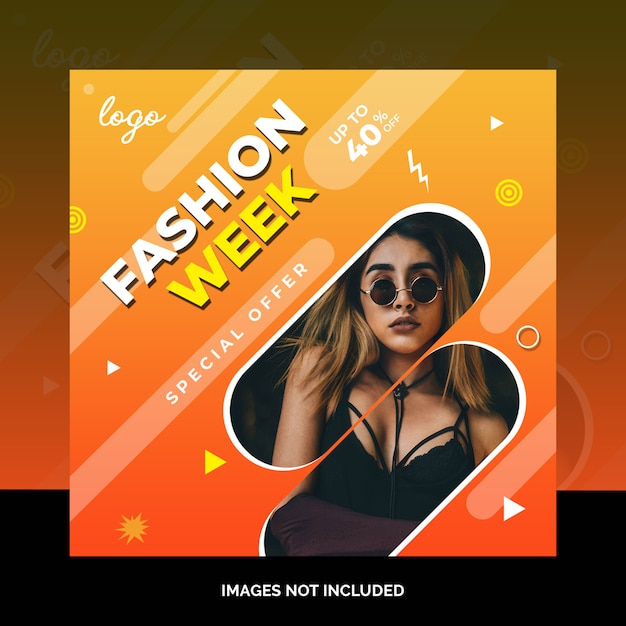 Fashion social media beitragsdesign Premium PSD
