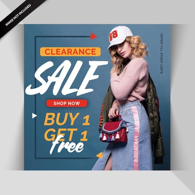 Fashion web banner für social media Premium PSD