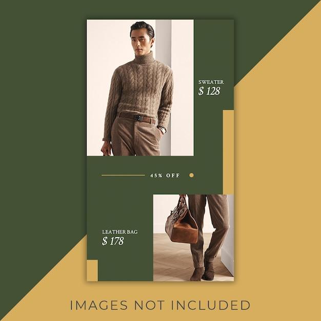 Fashioninstagram banner geschichten minimalistisch und elegant Premium PSD
