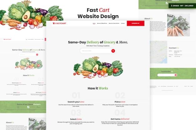 Fast cart website page design Premium PSD