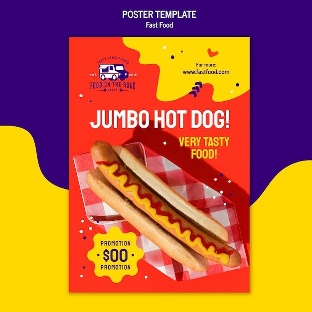 Fast-food-poster-vorlage Kostenlosen PSD