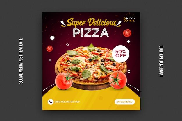 Fast food quadratische banner vorlage Premium PSD