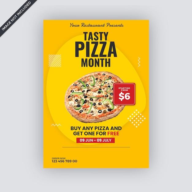 Fast-food-werbung flyer vorlage Premium PSD