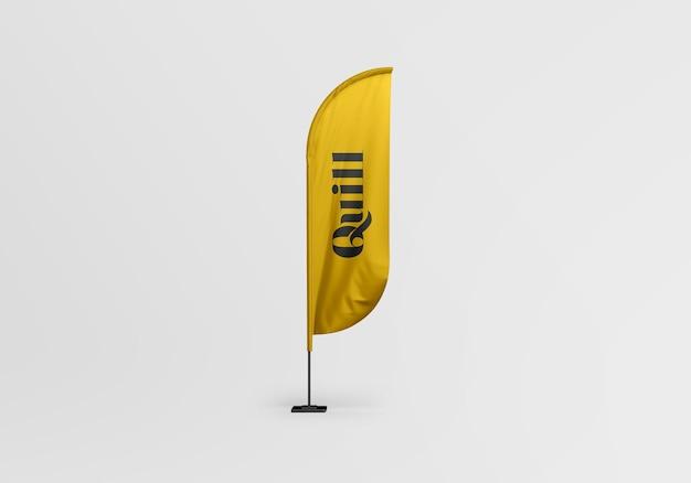 Federkiel-flaggenmodellentwurf isoliert Premium PSD