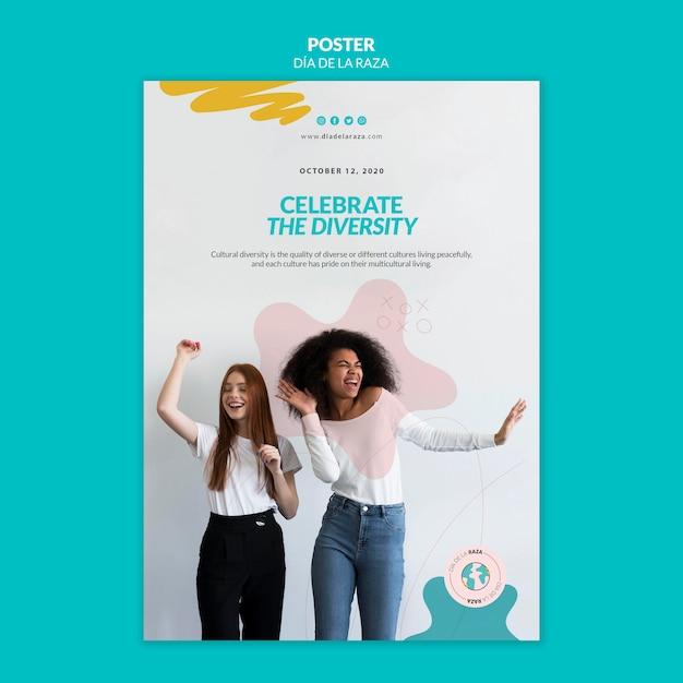 Feiern sie die diversity-poster-vorlage Kostenlosen PSD