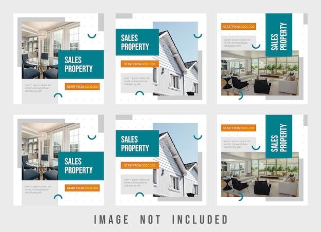 Feinste eigenschaft instagram post template design Premium PSD