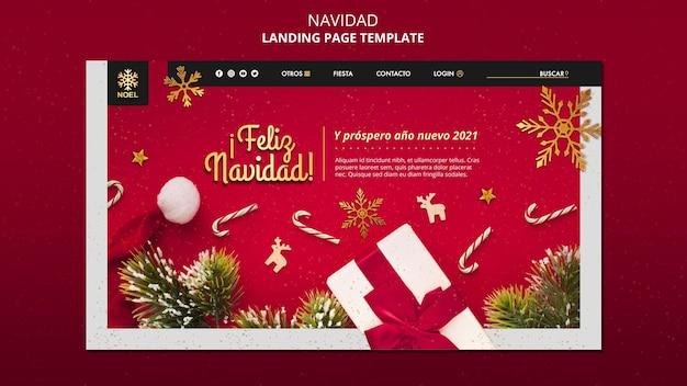 Feliz navidad landing page Kostenlosen PSD