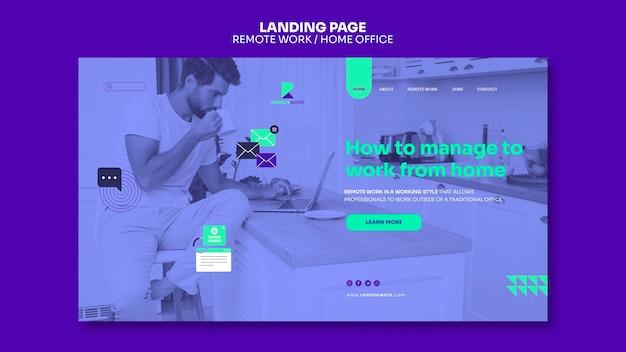 Fernarbeits-landingpage Kostenlosen PSD