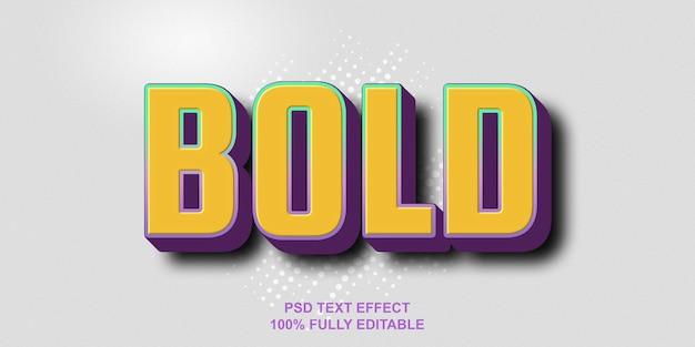 Fettgedruckte texteffektvorlage Premium PSD