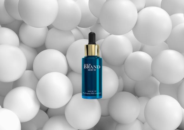Feuchtigkeitsspendende kosmetische premiumprodukte für die hautpflege mit geometrischer oberfläche. Premium PSD