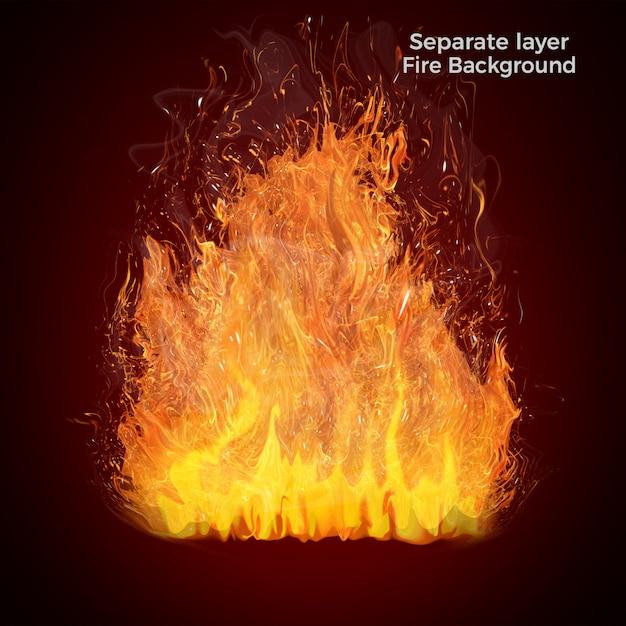 Feuer flammen isoliert Premium PSD