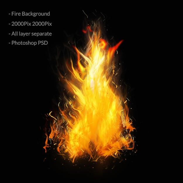 Feuer flammt hintergrund Premium PSD