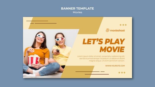 Filmzeit banner vorlage mit foto Kostenlosen PSD