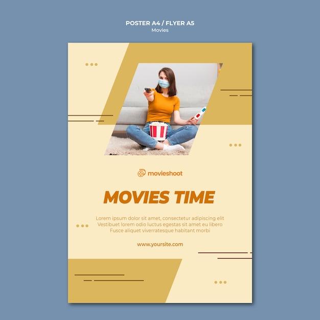 Filmzeit flyer vorlage mit foto Kostenlosen PSD