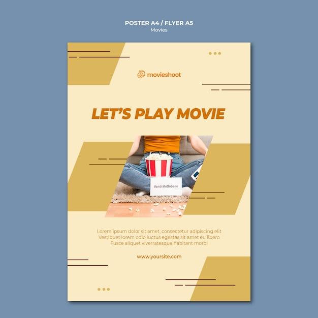 Filmzeit poster vorlage Kostenlosen PSD