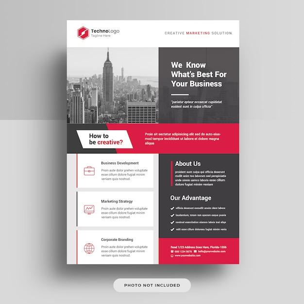 Firmengeschäft a4 flyer cover vorlage psd Premium PSD