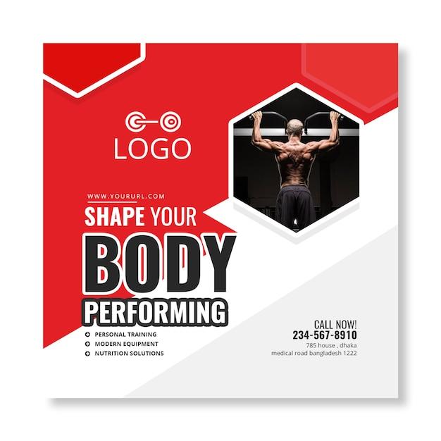 Fitness-banner Premium PSD