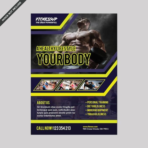 Fitness flyer vorlage Premium PSD