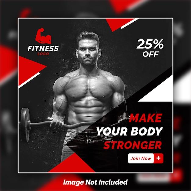 Fitness instagram banner design psd vorlage Premium PSD