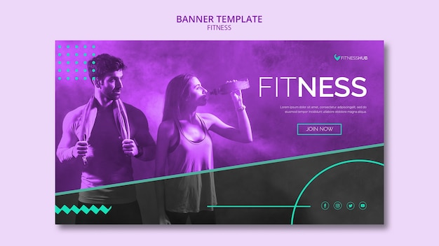Fitness-konzept-banner-vorlage Kostenlosen PSD