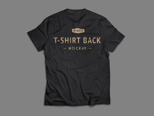 Flache lage des schwarzen t-shirt-modells Premium PSD