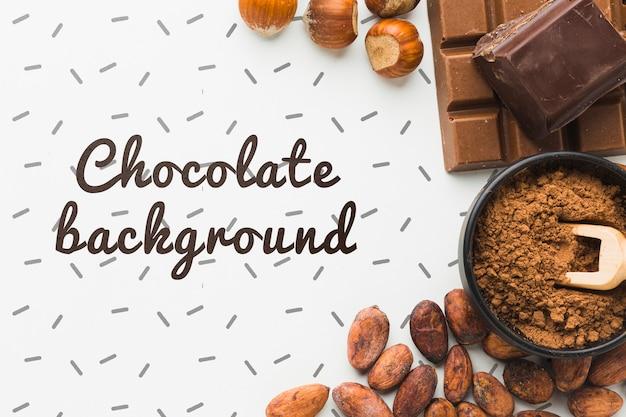 Flaches laienschokoladen-hintergrundmodell Kostenlosen PSD