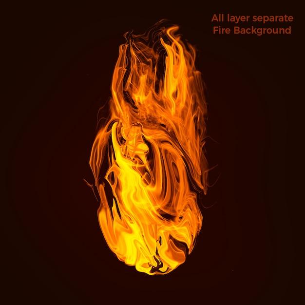 Flammen von hoher qualität Premium PSD