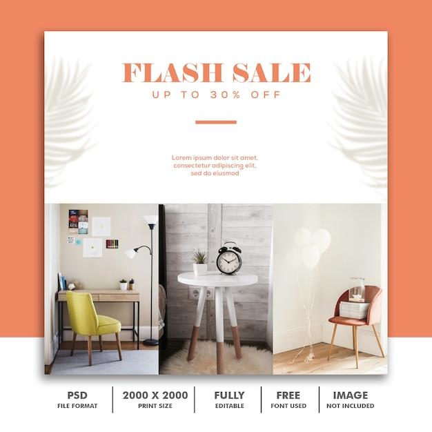 Flash-verkauf-social-media-beitragsvorlage Premium PSD