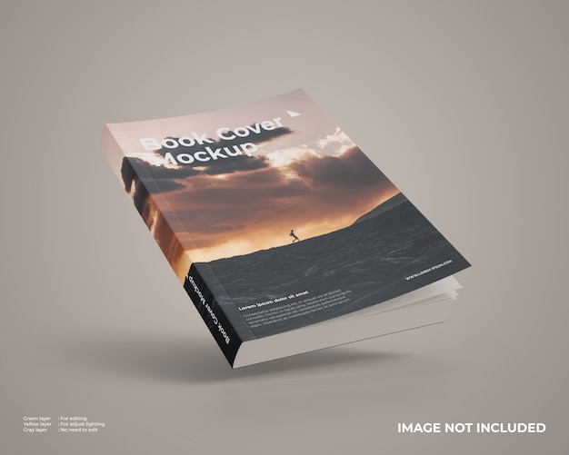 Fliegendes softcover-buchmodell Premium PSD
