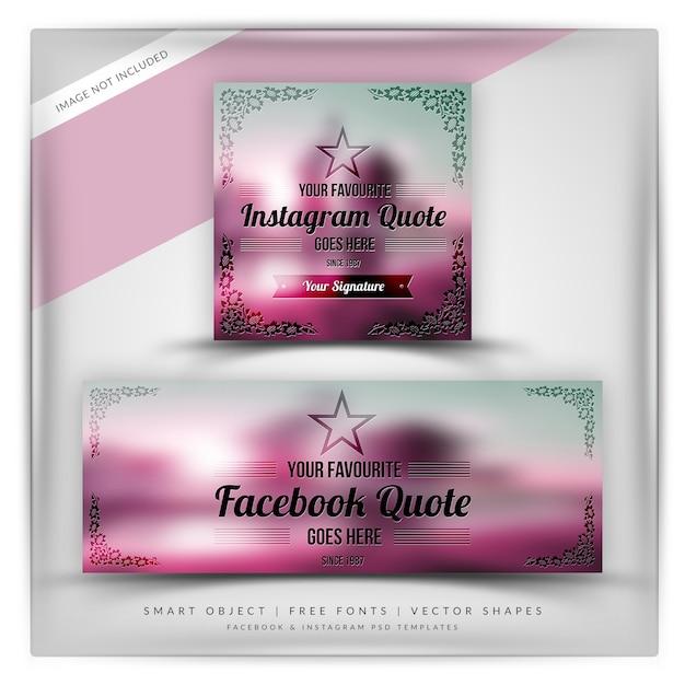 Floral ornament zitate für instagram & facebook Premium PSD