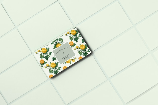 Floral visitenkarte vorlage modell Kostenlosen PSD