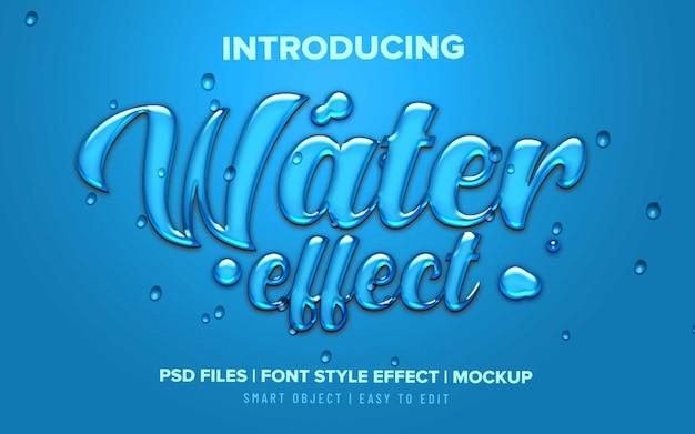 Flüssiger texteffekt des wassers 3d Premium PSD