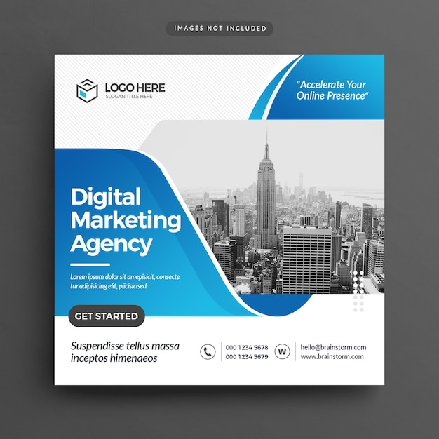 Flyer der agentur für digitales marketing Premium PSD