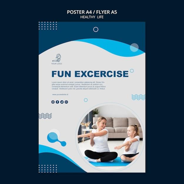 Flyer-design für ein gesundes lebenskonzept Kostenlosen PSD