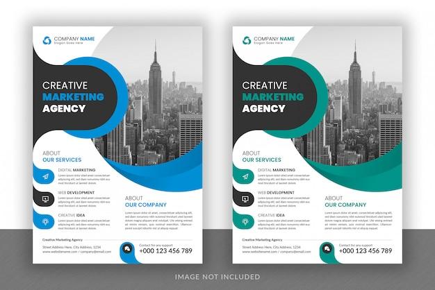 Flyer-design und broschüren-cover-vorlage des digital marketing agency für unternehmen Premium PSD