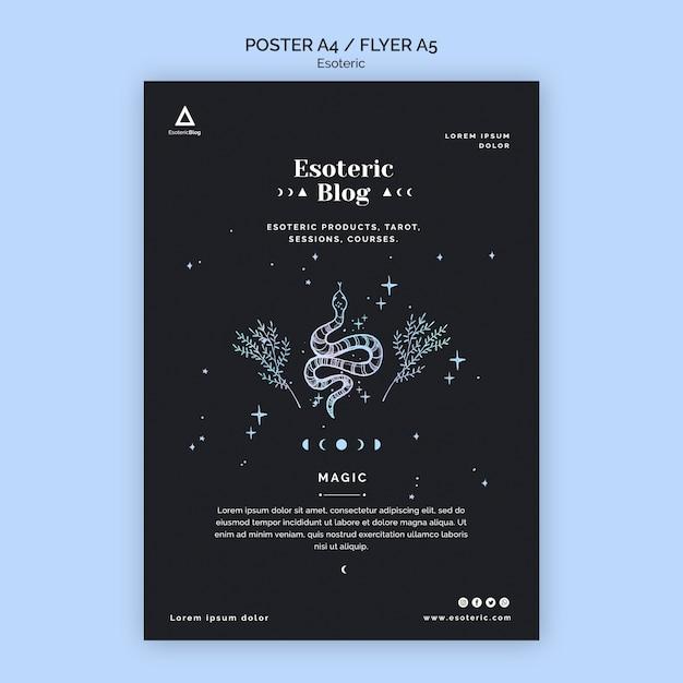 Flyer für esoterischen blog Kostenlosen PSD
