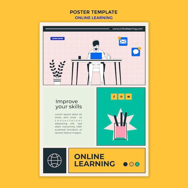 Flyer online-lernvorlage Kostenlosen PSD