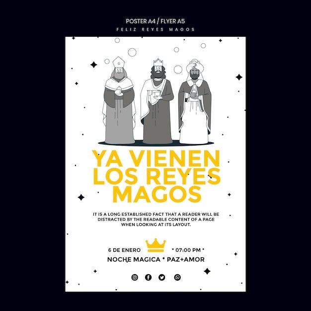 Flyer reyes magos vorlage Kostenlosen PSD