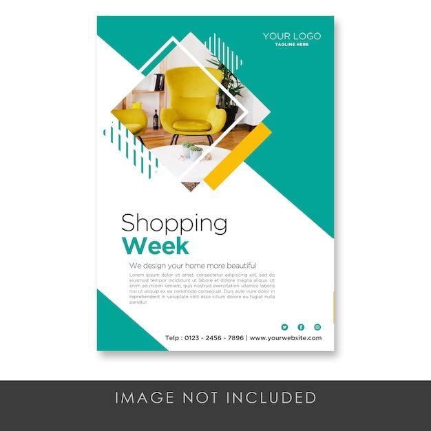 Flyer shooping week möbel vorlage Premium PSD