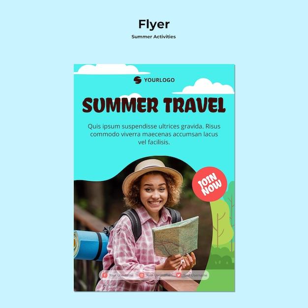 Flyer sommerreisevorlage Kostenlosen PSD
