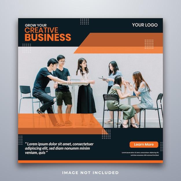 Flyer square social media feed poster instagram Premium PSD