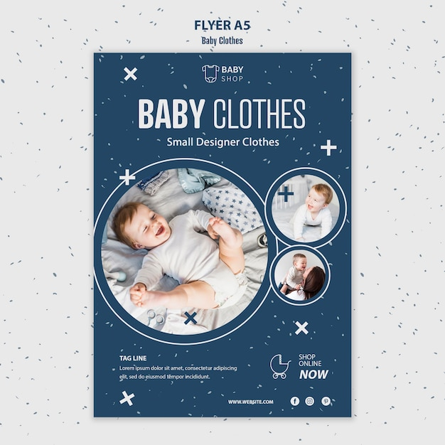 Flyer vorlage babykleidung Kostenlosen PSD