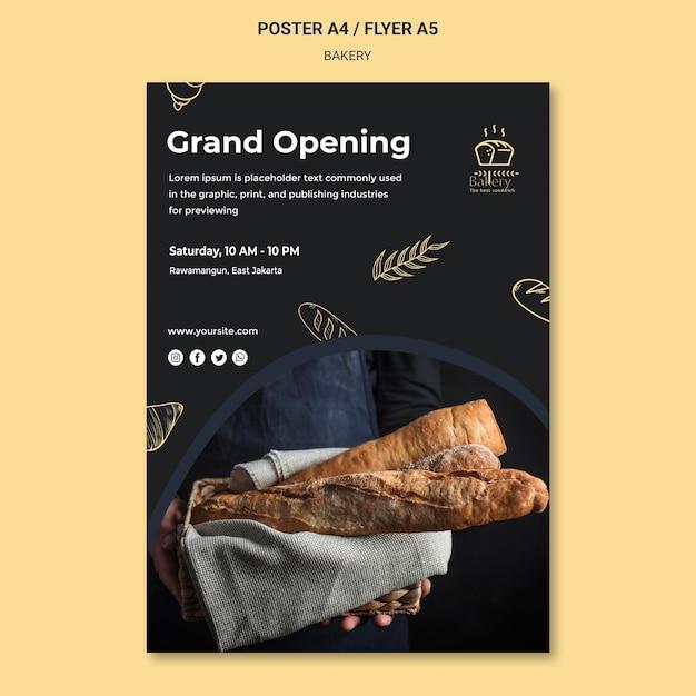 Flyer-vorlage für bäckerei-anzeigen Kostenlosen PSD
