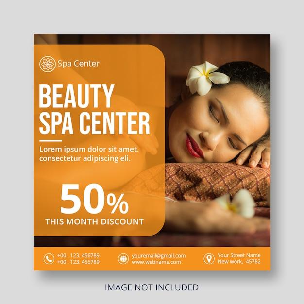 Flyer vorlage für beauty services Premium PSD