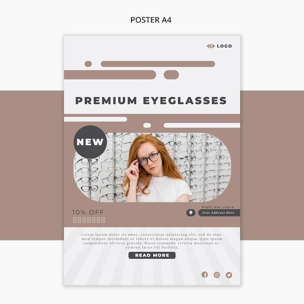 Flyer vorlage für brillen unternehmen Kostenlosen PSD