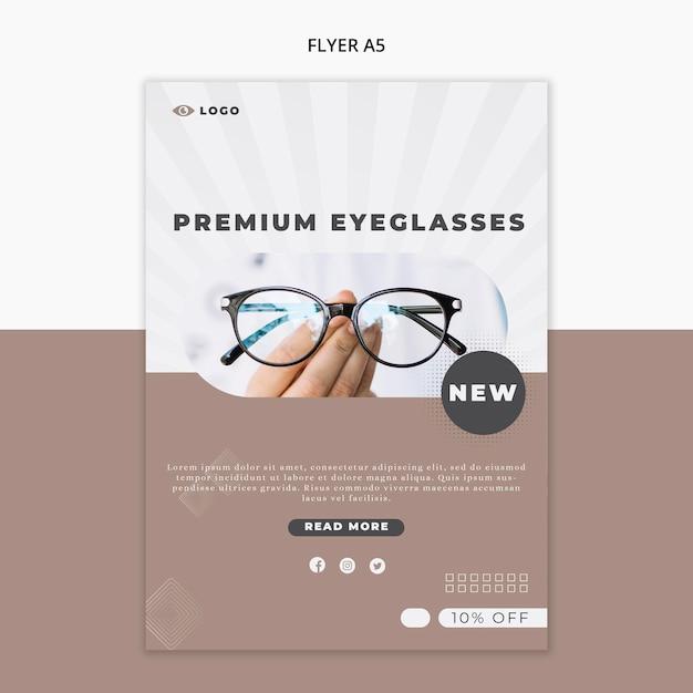 Flyer vorlage für brillen unternehmen Premium PSD