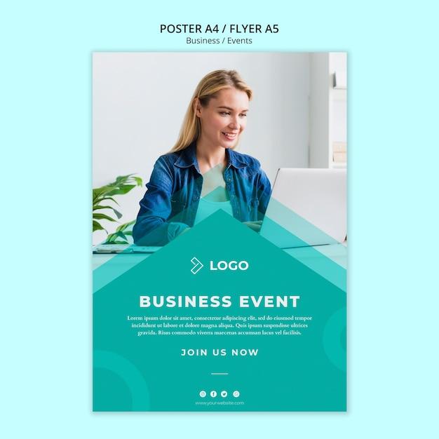 Flyer vorlage für business-event Kostenlosen PSD