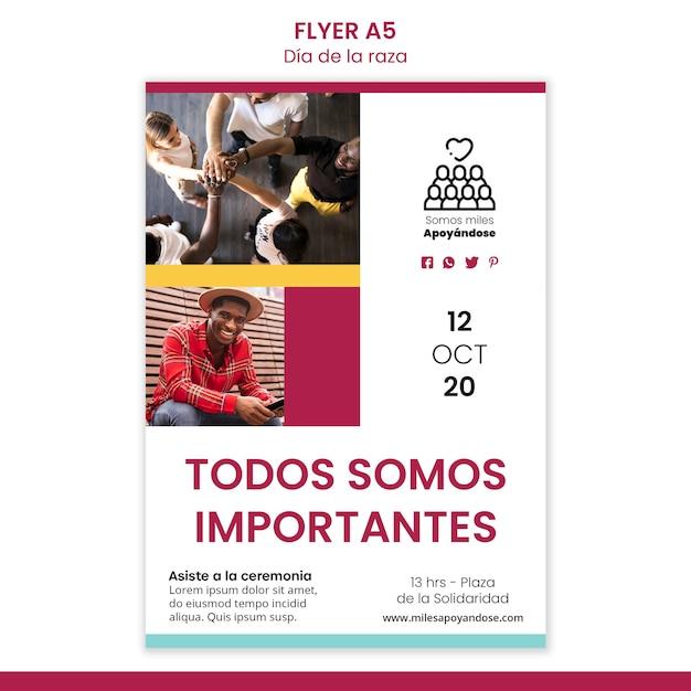 Flyer vorlage für columbus day feier Kostenlosen PSD